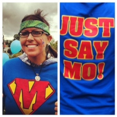 September 30, 2012 I walked 3-miles at the American Liver Foundation's Liver Life Walk. My family and I rocked out our Just Say Mo tshirts!