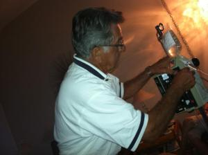 My grandfather had to learn how to work my IV at-home