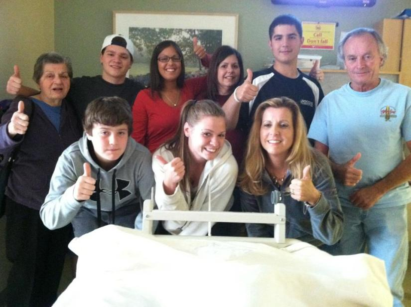 Just a small part of my family that came to visit me in the hospital last May.