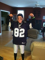 I didn't go Halloween shopping, so I decided to rock out my Dallas gear to pass out candy to the trick-or-treaters!
