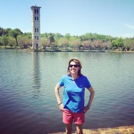 At my alma mater's well-known landmark, the Furman Belltower, April 2013.