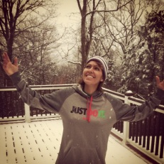 Snowwwww! I love this picture #justdoit