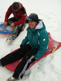 Sledding for the first time since my transplant