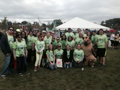 "My ""Just Say Mo"" team at the 2013 Liver Life Walk in Stamford, CT on September 29, 2013."