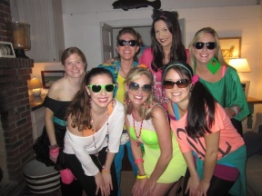80's themed bachelorette party for my best friend Kea in Charleston, SC!