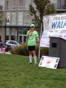 Giving my speech sharing my personal journey of survival at the 2013 Liver Life Walk in Stamford, CT.
