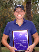 I attended Furman University in Greenville, SC and my sophomore year I won the 2004 Lady Paladin Invitational  with rounds of 69-70-74= 223 (-3) as an individual and also as a team.