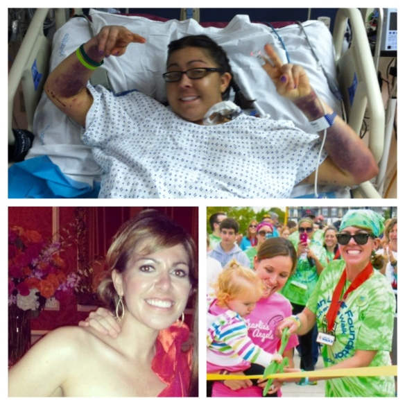 Before my liver transplant/brain surgeries & After