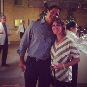 "Mark Cuban came up to me and said, ""Hi Mo. Mark Cuban.  Mike has told me so much about you..."" at my best friend Allison Micheletti's wedding in Dallas, TX in September of 2013."