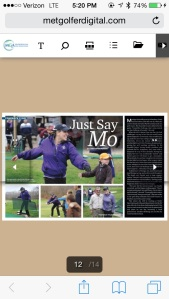 Just Say Mo--MET Golfer Extra December 2014