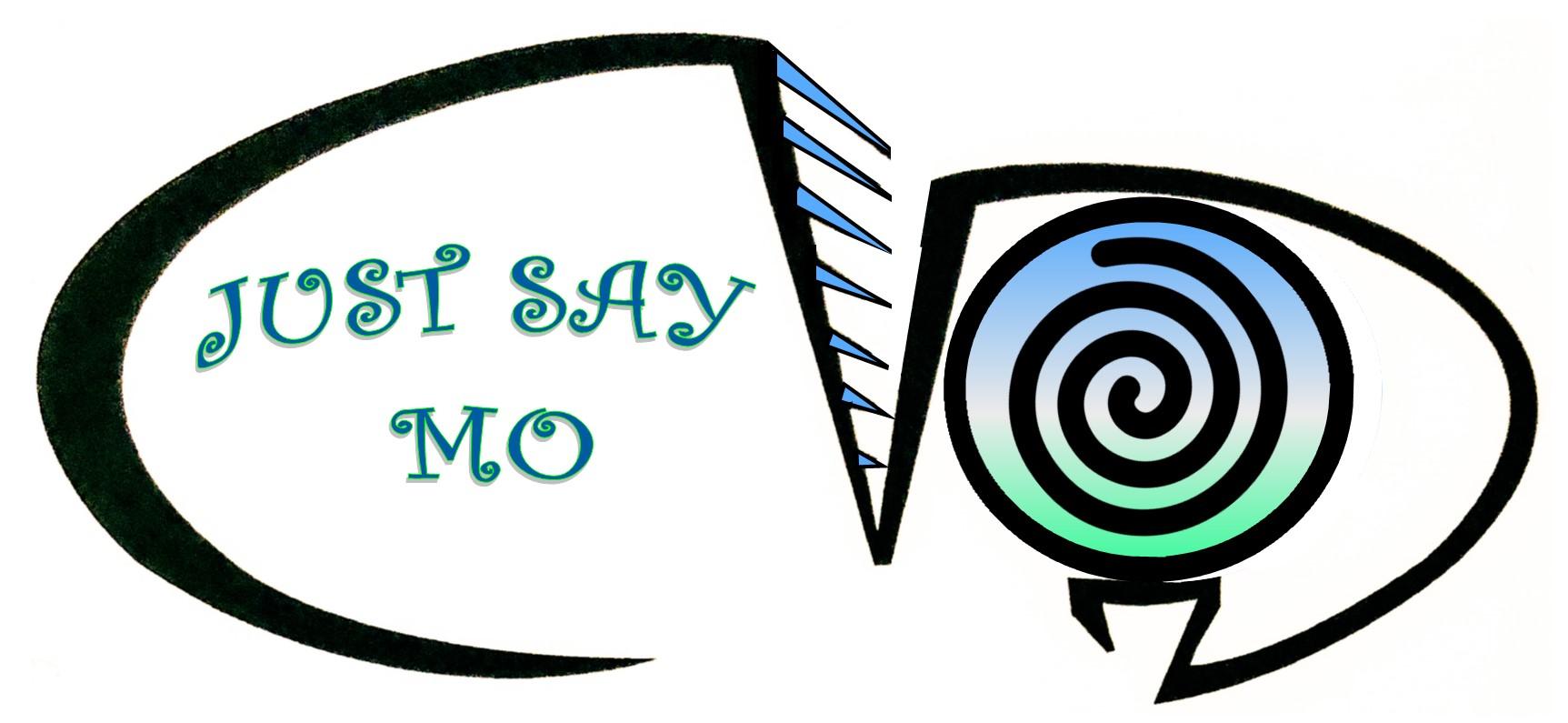 Just Say Mo Logo Blue